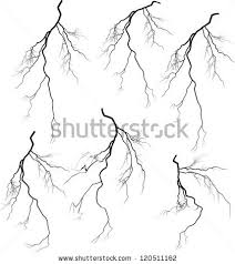 Drawn Lightening Vector Pencil And In Color Drawn Lightening Vector