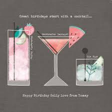 birthday cocktail personalised birthday card start with a cocktail from 99p