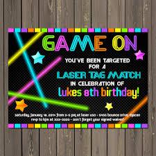 neon party laser tag invitation laser tag birthday invitation neon party