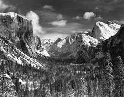 ansel adams yosemite and the range of light poster valley winter by ansel adams