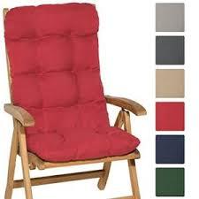 coussin de chaise de jardin coussin avec dossier chaise jardin achat vente pas cher
