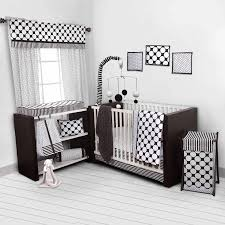 Nursery In A Bag Crib Bedding Set Bacati Dots Pin Stripes Black White 10 Nursery In A Bag