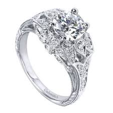 floral engagement rings 14k white gold carved floral engagement ring wedding day diamonds