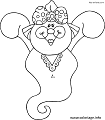 coloriage fantome fille halloween dessin