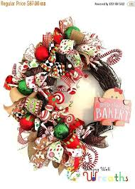 on sale gingerbread grapevine wreath white and green