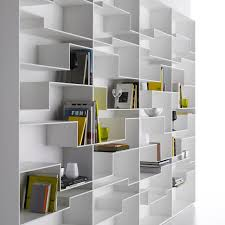 modular bookcase contemporary lacquered mdf melamine