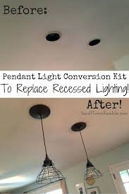 replace recessed light with pendant gallery of how to change a recessed light to a pendant fixtures replace recessed light fixture with pendant