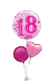 balloons for 18th birthday pink 18th birthday balloons age balloon delivery balloons