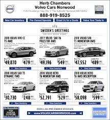 new volvo car specials at volvo of norwood serving dedham
