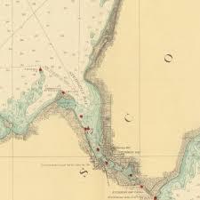 Lake Michigan Shipwrecks Map by Print Of Lake Michigan Porte Des Morts Passage To Kewaunee Wis