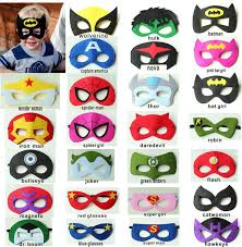 2layer felt superhero mask superman batman spiderman hulk thor