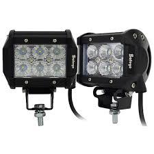 automotive led light bars safego 2x 4inch offroad led light bar 18w led work light bar spot