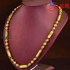 long gold beads necklace images Wholesale discounted gold plated 18k gold necklace men men jpg