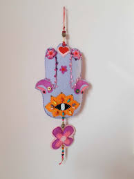 felt hamsa hand amulet wall hanging home decor textiles house