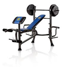 Weight Bench Sports Authority Amazon Com Marcy Opp Bench And 80 Pound Weight Set Olympic