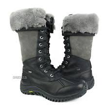 ugg s adirondack ii leather apres ski boots leather walking hiking mid calf s boots ebay