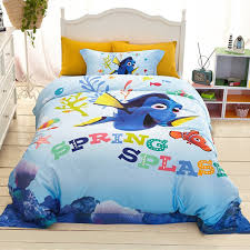 Duvet 100 Cotton Aliexpress Com Buy Disney Finding Nemo Cartoon Bedding Sets 100