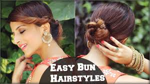 2 min easy bun hairstyles for medium hair hairstyles for indian
