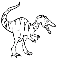 baryonyx dinosaur coloring pages craft colouring pages