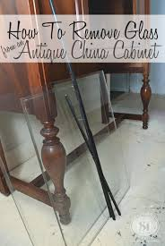 how to remove cabinets how to remove glass from antique china cabinets antique china