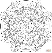 abstract mandala 3 coloring page free printable coloring pages
