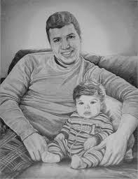 portraits pencil sketch portraits from photographs custom portrait