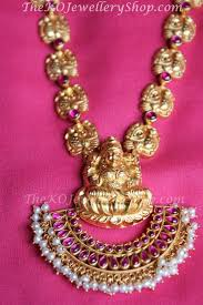 silver jewellery necklace sets images The pushpalakshmi gold plated silver necklace set ko jewellery jpg