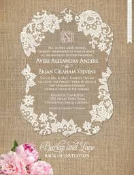 Burlap And Lace Wedding Invitations 166 Best Wedding Invitations Images On Pinterest Marriage