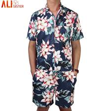mens one jumpsuit floral print s rompers sleeve jumpsuit romper playsuit