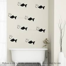 fish bubble wall stickers bedroom washroom showerroom tile