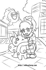 27 best yokai watch images on pinterest drawings coloring pages