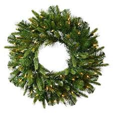 vickerman wreath garland with 30 warm white