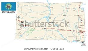 south dakota road map us road map stock images royalty free images vectors