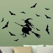 wall ideas scared witch cauldron halloween wall art decal