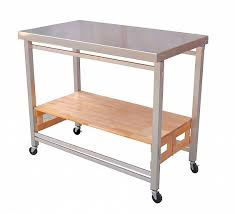 kitchen island cart stainless steel top stainless steel top x large flip fold kitchen island