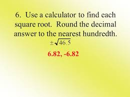 objectives the student will be able to 1 simplify square roots