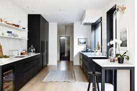 modern black and white kitchen house tour modern u0026 rustic victorian terrace coco kelley coco