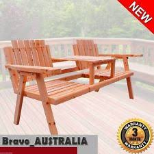 Outdoor Jack And Jill Chair by Jarrah Jack Jill Garden Bench Seat 3 Year Warranty Ebay