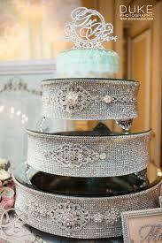 rhinestone cake silver rhinestone cake stand for wedding anniversary