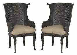 Beige Wingback Chair Caned Wing Back Chair Vintage Noir Guildmaster Wing Back Chairs