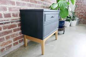 a modern take on a mid century nightstand navy and gold u2014 a