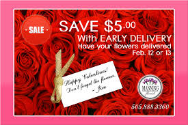 valentines delivery save 5 with early delivery albuquerque florist manning luxury