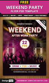 free weekend party flyer psd template 7788 designyep free flyers