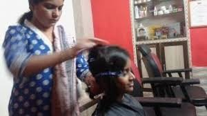 beautiful blue shaved lady barber re upload indian women