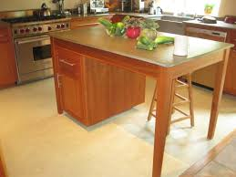 simple cherry kitchen islands featuring rectangle shape brown
