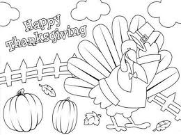 thanksgiving coloring pages for kindergarten printable