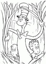 cat in the hat coloring page coloring home