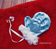simple salt dough mitten ornament keepsake handprint