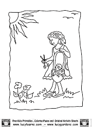 flower garden coloring pages lucy learns flower garden coloring
