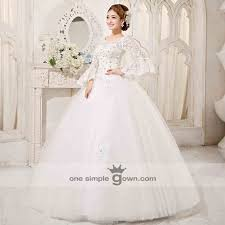 wedding dress muslimah simple sleeve princess rhinestone gown wedding gown